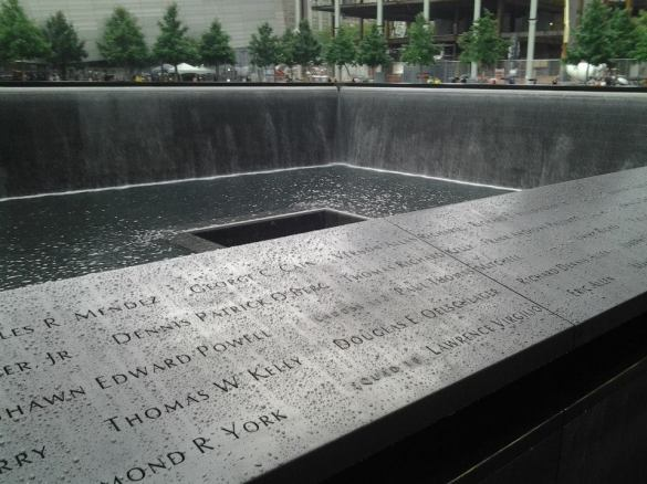 The reflection pool at the site of the South Tower of the World Trade Center at the 9/11 Memorial in New York City on August 16, 2012. (Bruce Knoll Jr/ Notions of Knoll)
