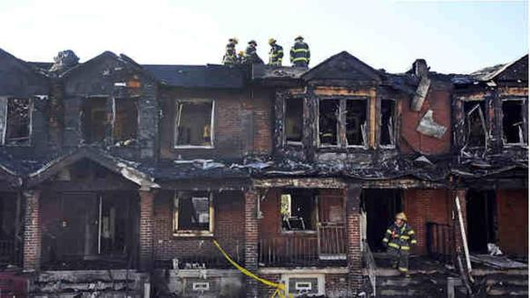 The aftermath of a deadly fire in Philadelphia on July 5, 2014 that killed 4 young children. Photo courtesy ABC7.