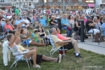 Concert-goers enjoy the music as the BStreetBand performs at Excursion Park on July 18, 2015 in Sea Isle City.