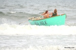Sea Isle City lifeguards Alisia Bell and John Temme approach the finish line to win the Mixed Doubles Row event at the Tri-Resort Lifeguard Races on July 13, 2015 in Sea Isle City.